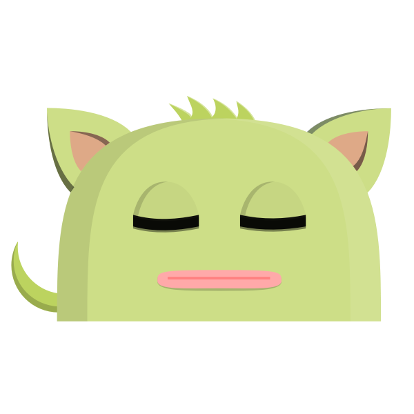 Cat avatar vector graphics