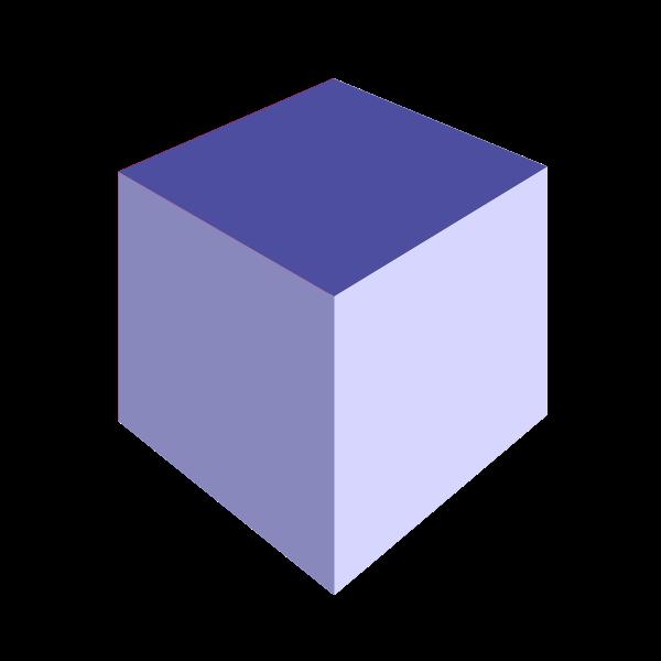 3D white box vector clip art