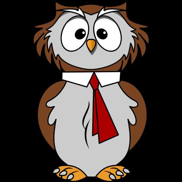 Owl wearing a tie