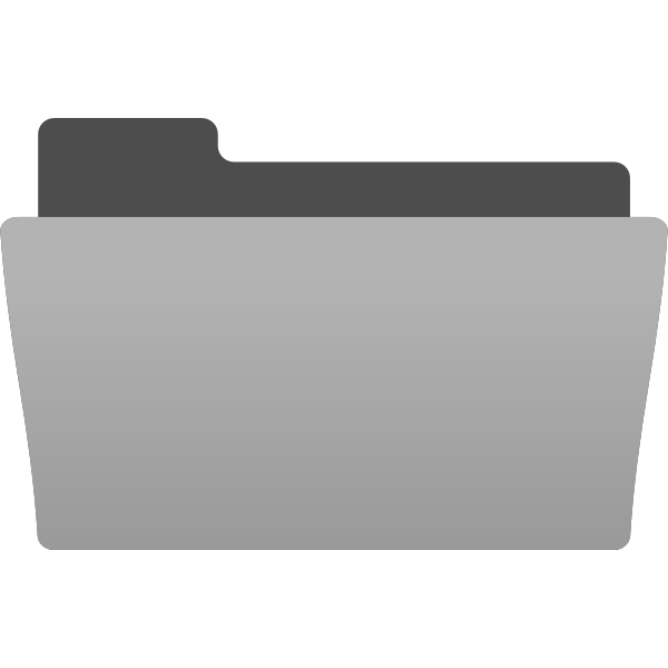 Vector image of half open folder icon