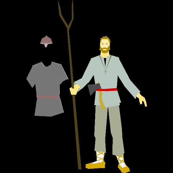 Medieval Russian militia vector clip art