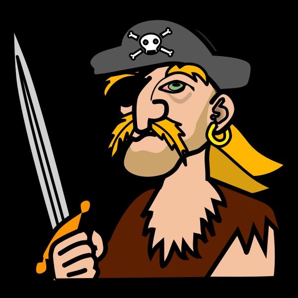Coloured pirate portrait