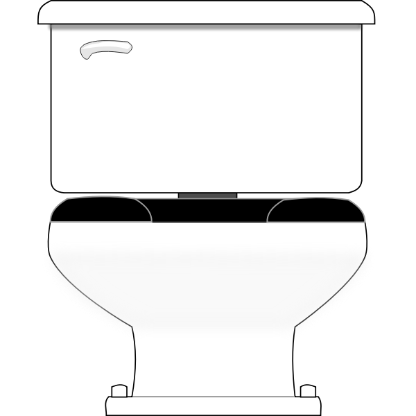 Vector drawing of unisex toilet seat