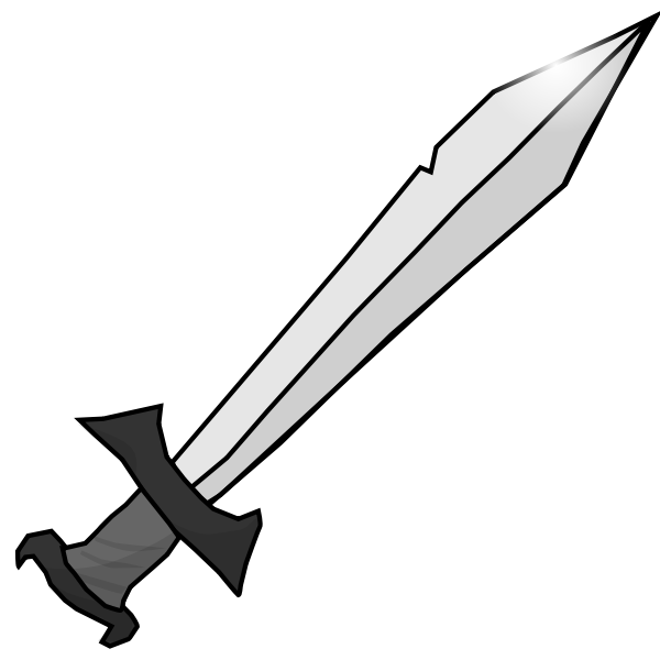 Sword in gray scale