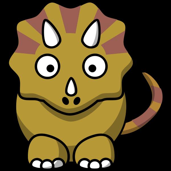 Dinosaur cartoon style vector