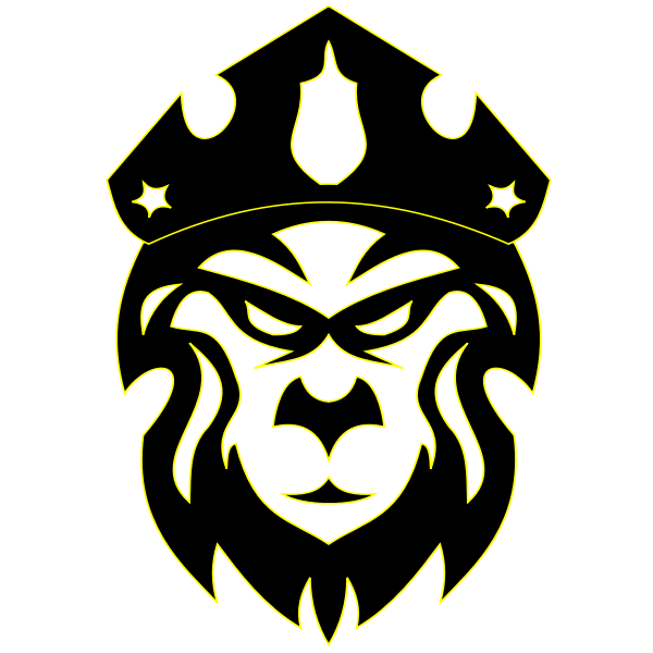 Lion's head vector clip art