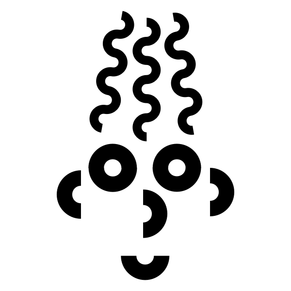 Vector clip art of spiral man head