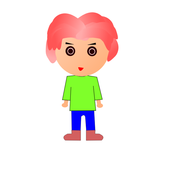 Standing pink-haired dude