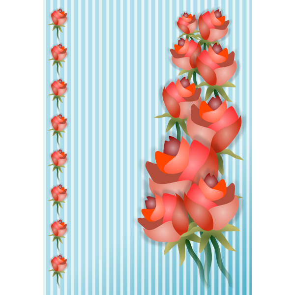 Decorative background with roses vector clip art