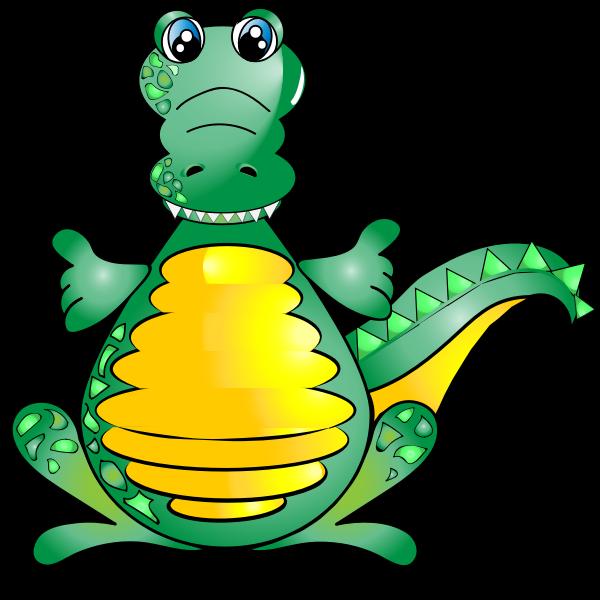Comic image of a crocodile