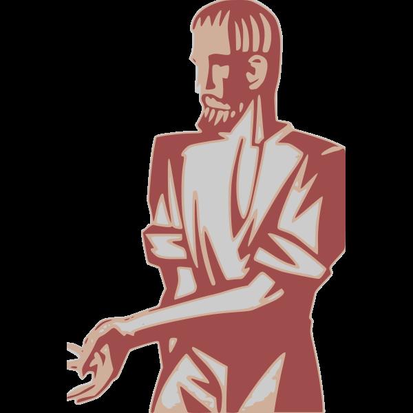 Red man statue
