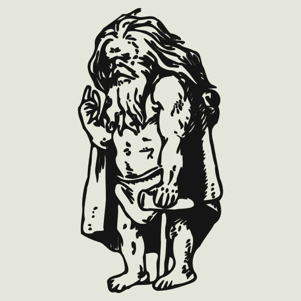 Dwarf with long hair
