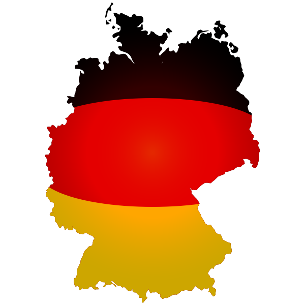 Political flag map of the Germany vector image