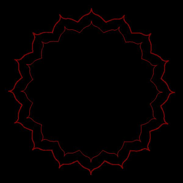 Floral frame in vector format