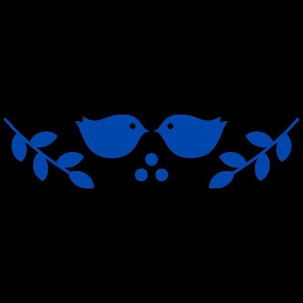 Vector illustration of folk art birds