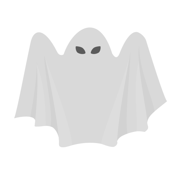 Scary white ghost