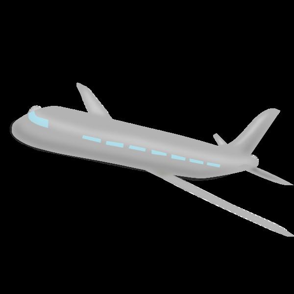 Gray airplane vector