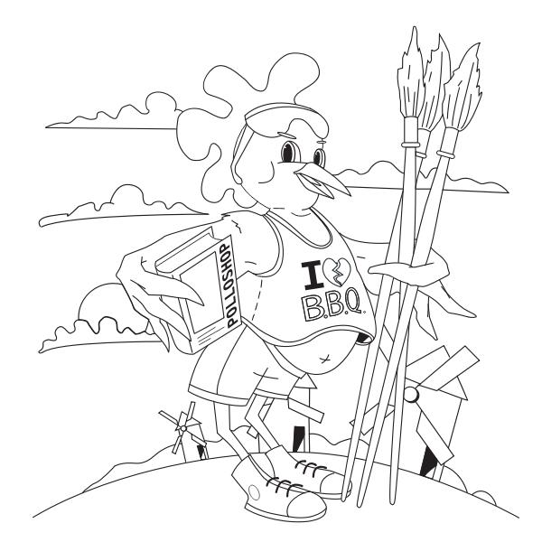 Coloring chicken