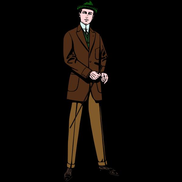 Man in brown suit