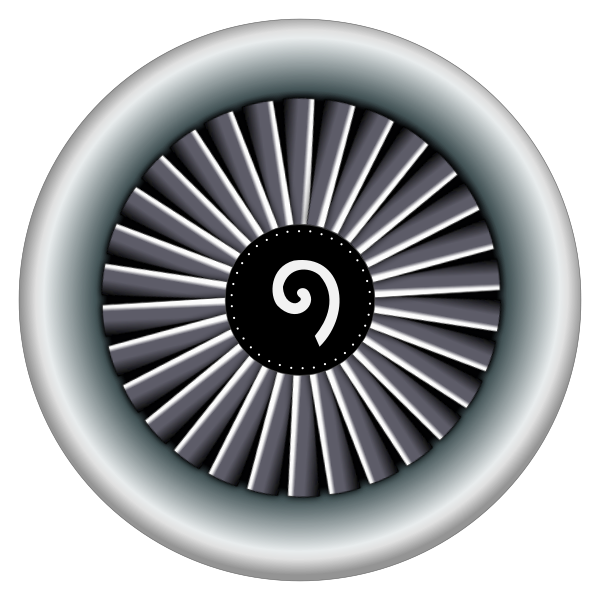 Jet engine vector