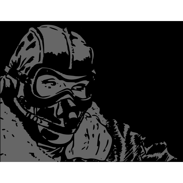 Pilot in mask