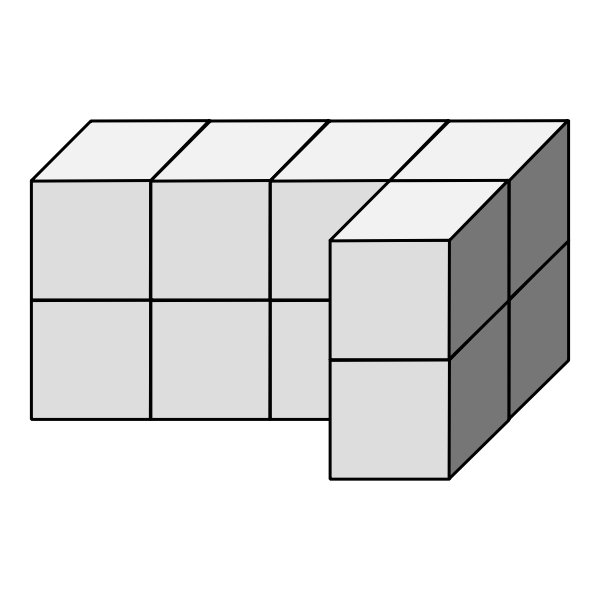 Isometric dice building vector image
