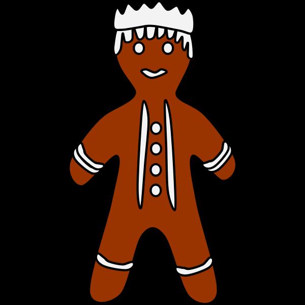 Gingerbread king illustration
