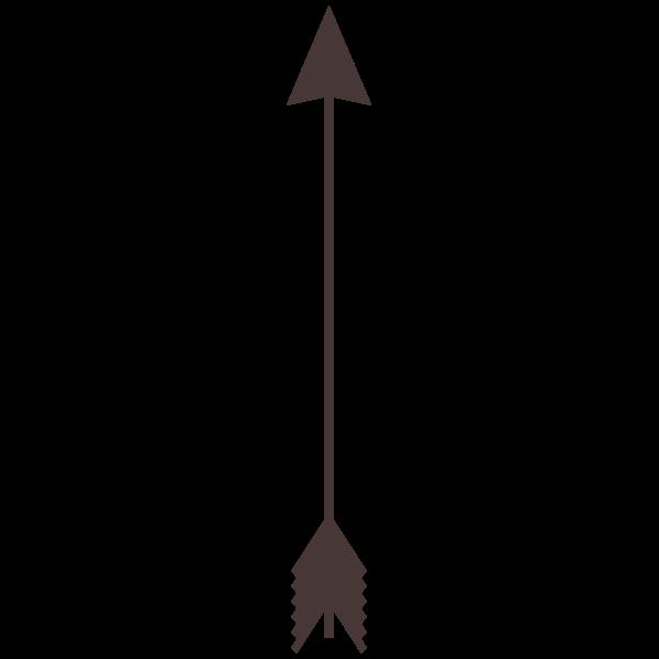 Gray arrow vector image