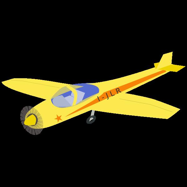 Yellow airplane