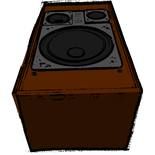Big old speaker vector image