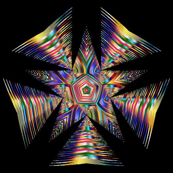 Prismatic Star Line Art 2 No Background