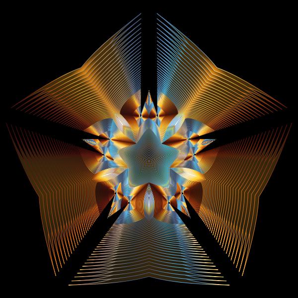 Prismatic Star Line Art 4