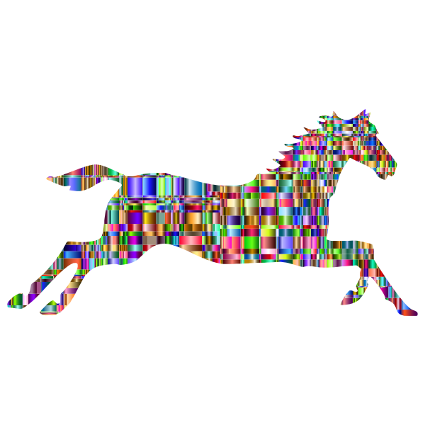 Checkered Chromatic Galloping Horse