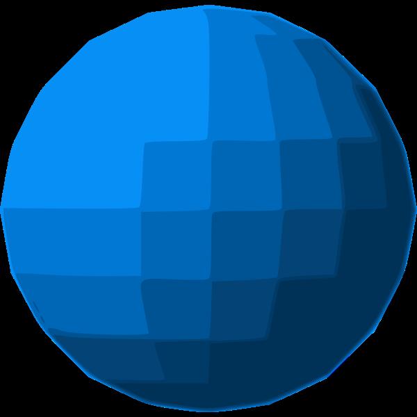 Blue sphere disco ball