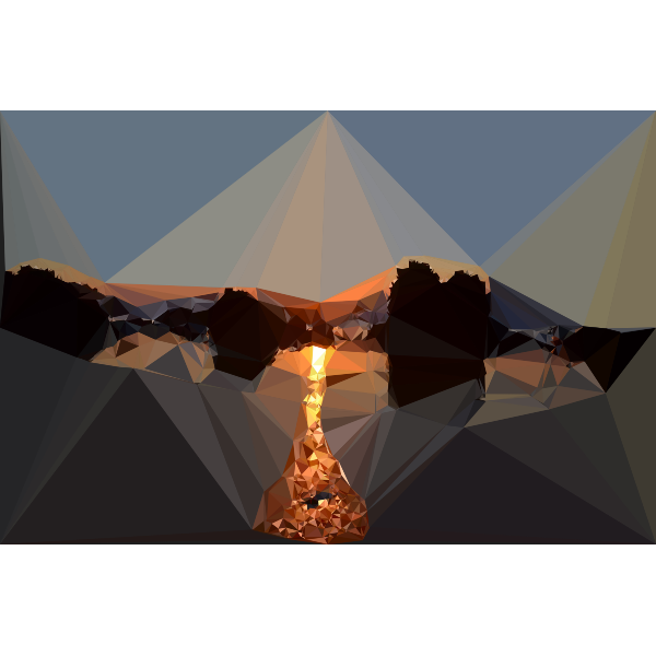 Low Poly Beach Sunset