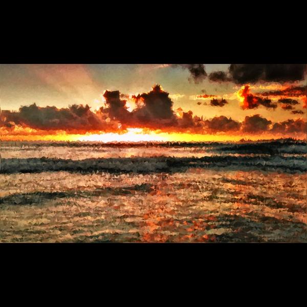 High Poly Ocean Sunset