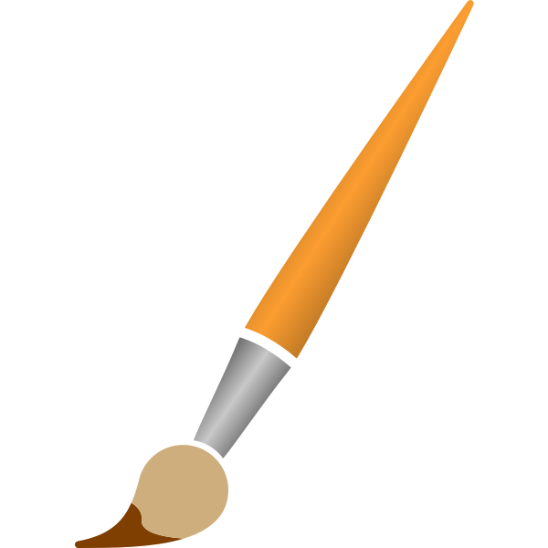 Paintbrush and brown dye