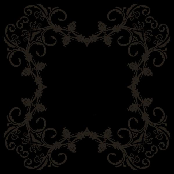 Floral Flourish Frame