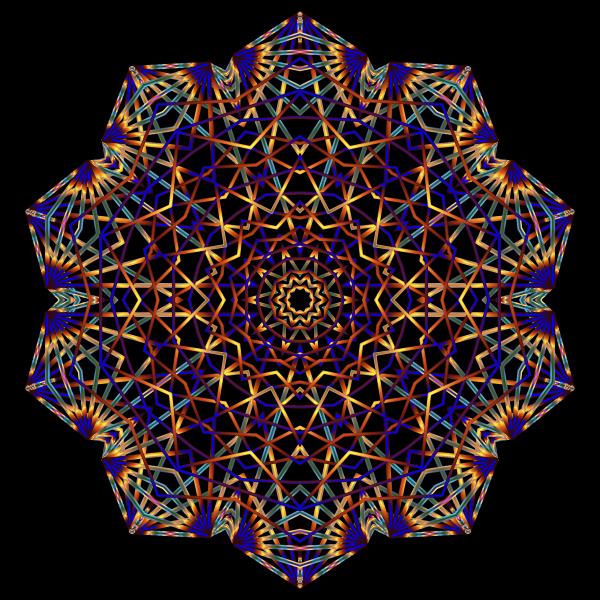 Prismatic Mandala Line Art