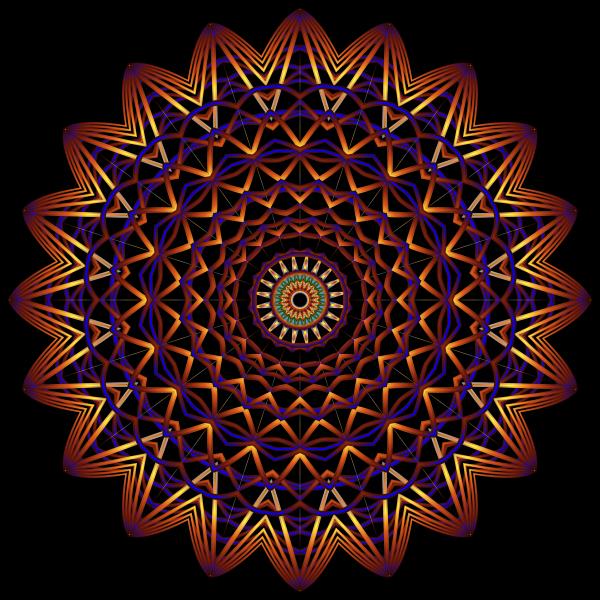 Prismatic Mandala Line Art 5