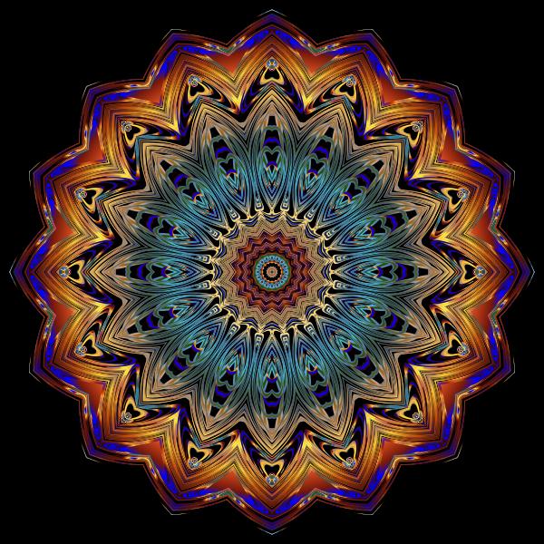 Prismatic Mandala Line Art 9