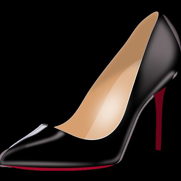 Black stiletto heels