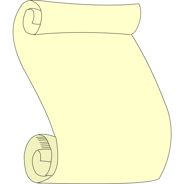Plain paper scroll