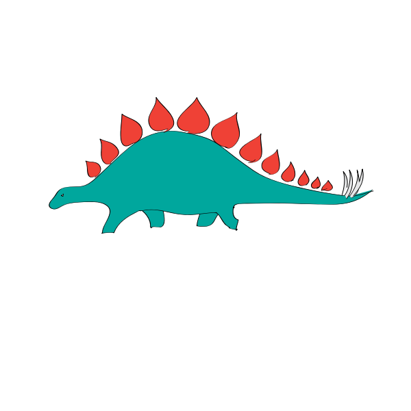Rubber Stegosaurus toy