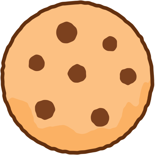 Simple illustration of a cookie