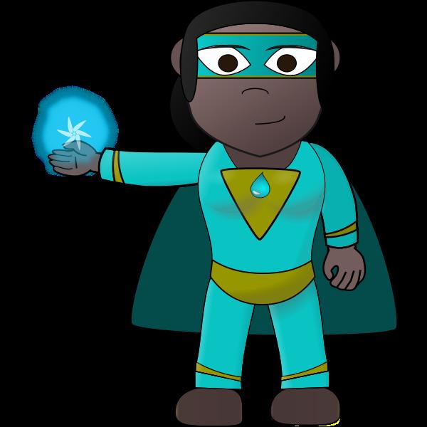 Aqua hero vector image