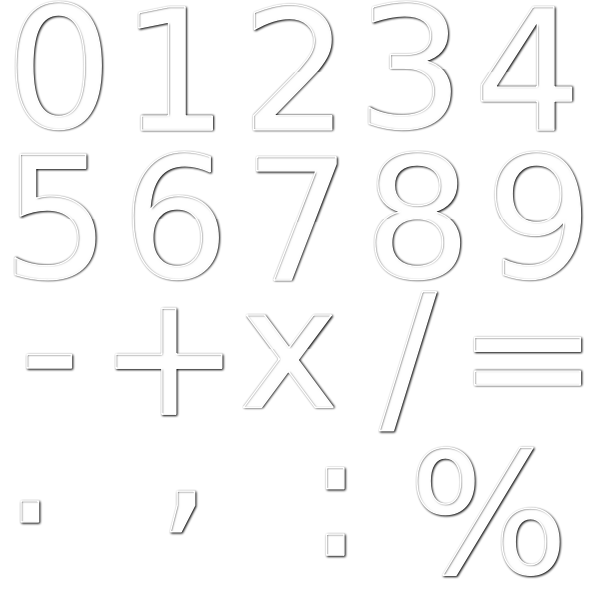 Numbers with arithmetic operations