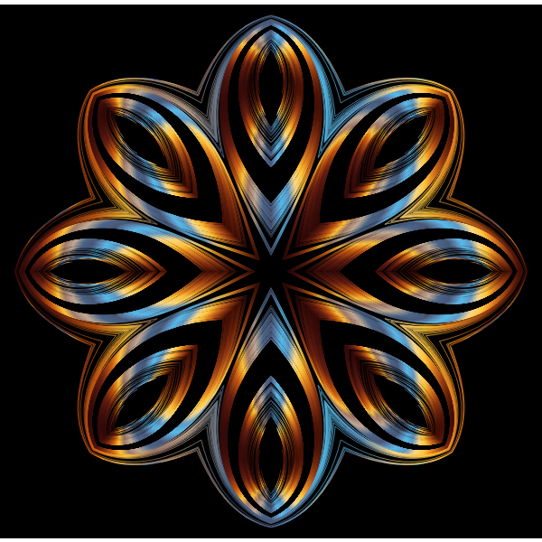 Chromatic Geometric Line Art