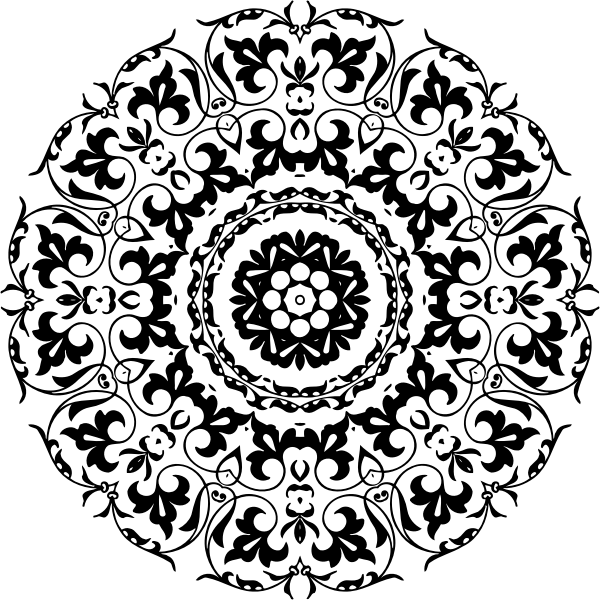 Flowery silhouette image