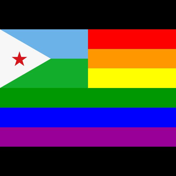 The Djibouti Rainbow Flag